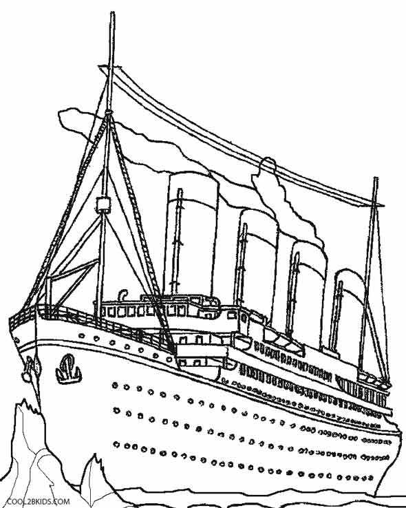 590x738 Titanic Coloring Page Coloring Page For Kids