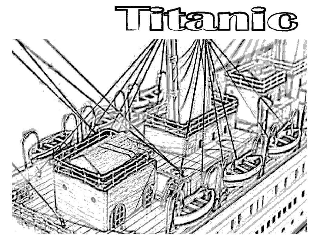 1056x816 Coloring Sheet Titanic Coloring Sheet