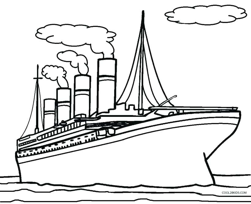 820x665 Titanic Coloring Pages For Titanic Ship Coloring Pages Sketch