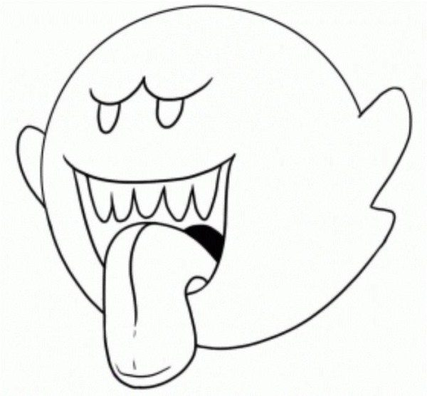 Toad Mario Brothers Coloring Page
