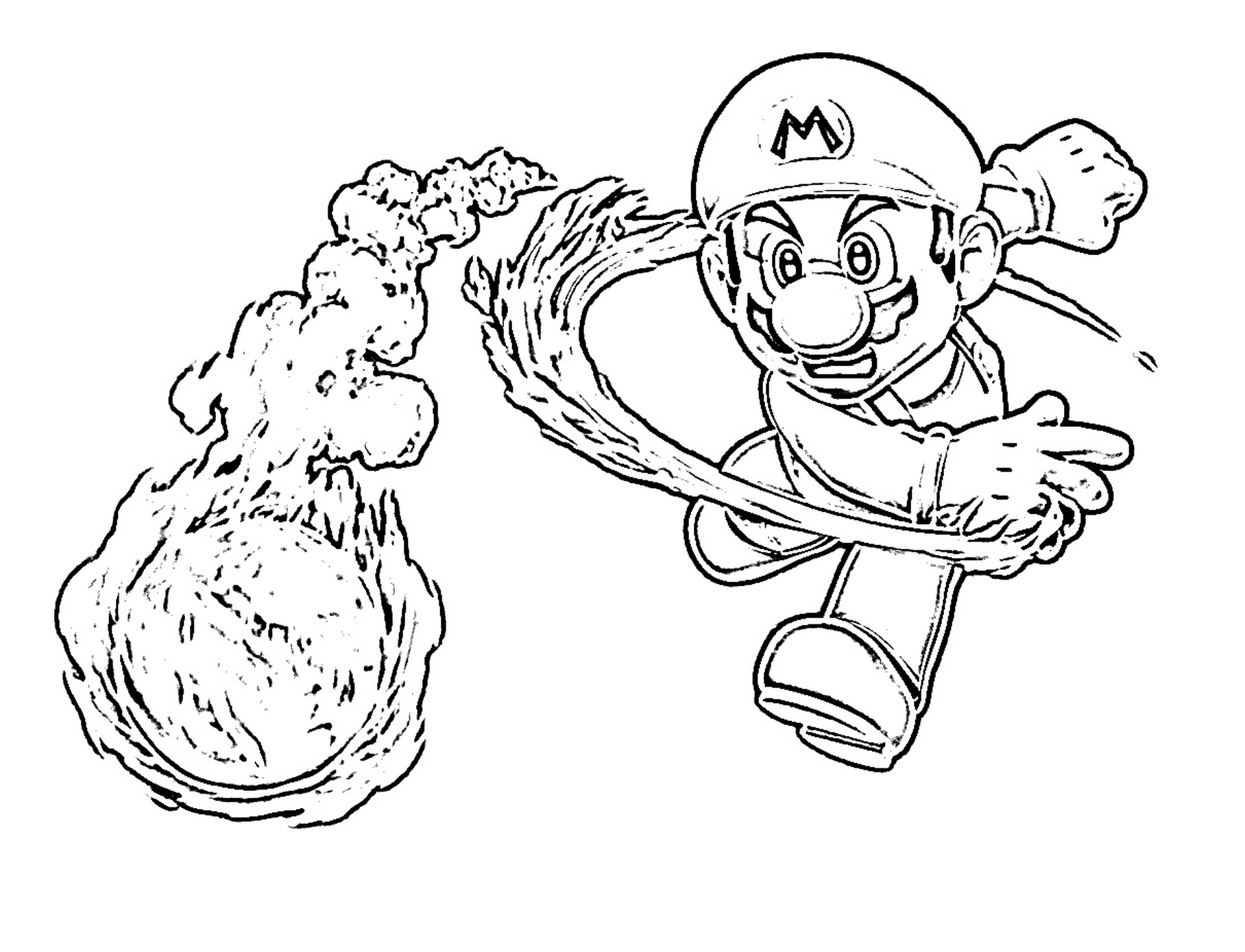 1816x1389 Stunning Super Mario Bros Toad Coloring Page At