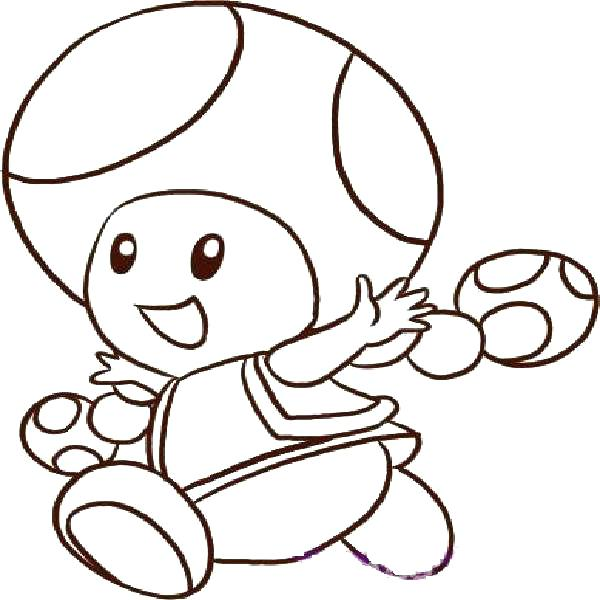 600x600 Toad Coloring Pages Toad Coloring Pages To Print Toad Coloring