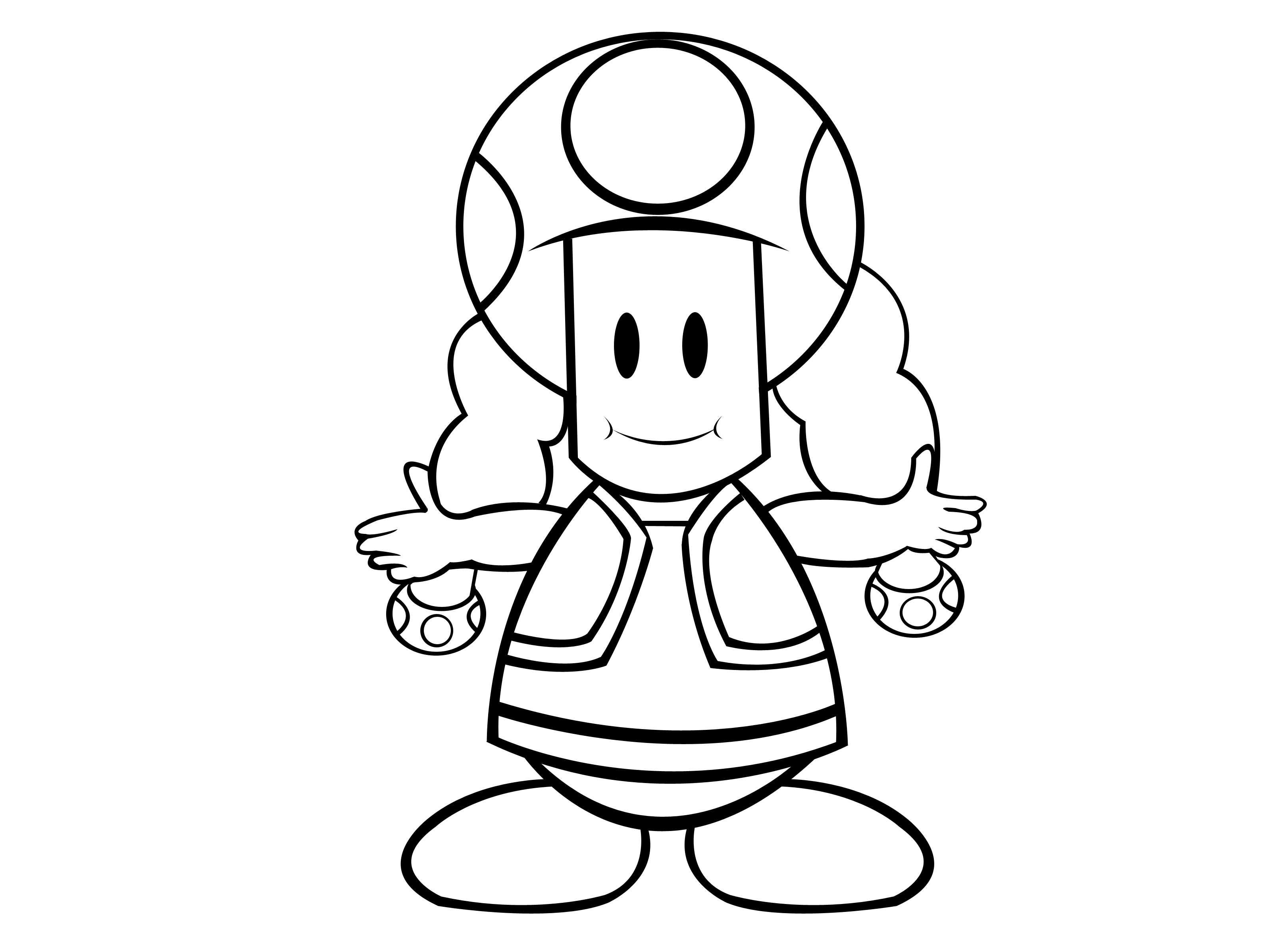Toad Mario Drawing at GetDrawings.com | Free for personal use Toad ...