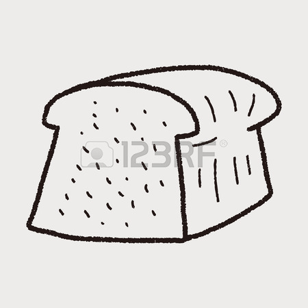 450x450 Toast Doodle Drawing Royalty Free Cliparts, Vectors, And Stock