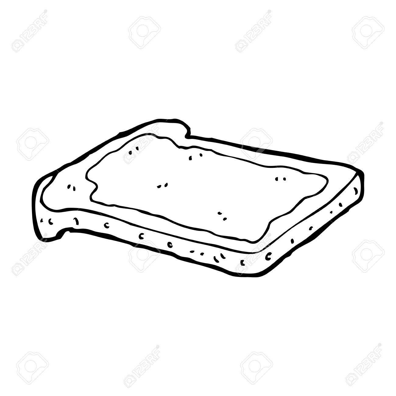 1300x1300 Cartoon Jam On Toast Royalty Free Cliparts, Vectors, And Stock