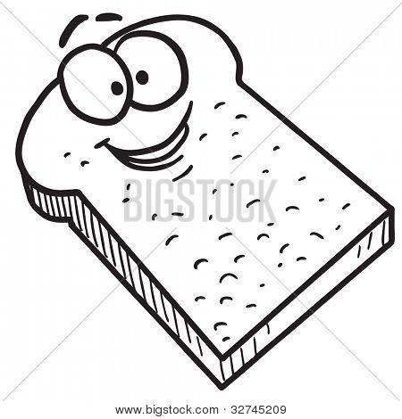 450x470 Cartoon Toast Bread Vector Amp Photo Bigstock