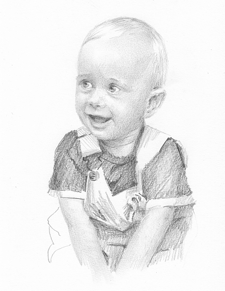 464x600 Happy Toddler Drawing By Mike Theuer