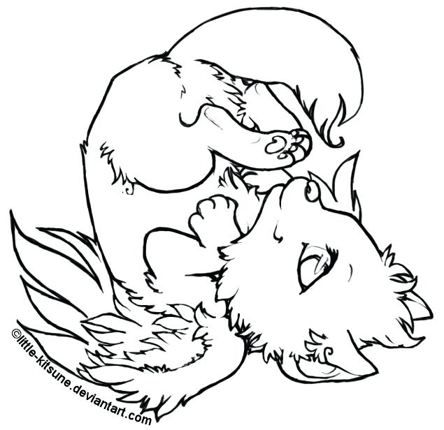 635x616 New Anime Wolf Coloring Pages Best Of Realistic For Toddler Free
