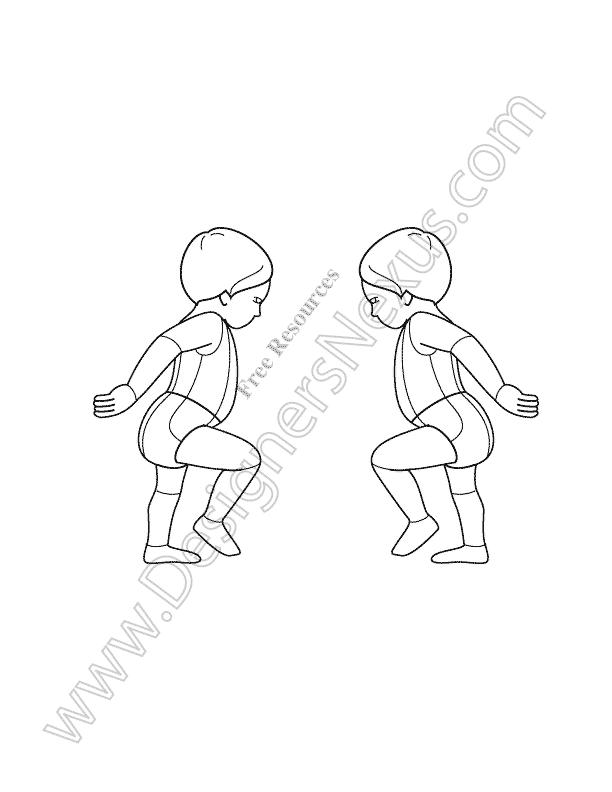 612x792 V17 Infant Toddler Free Kids Croqui Template