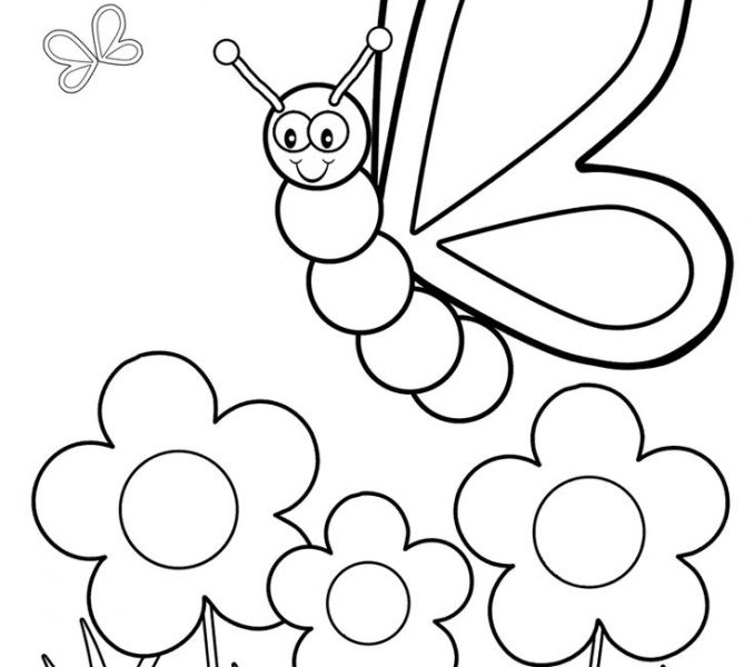 678x600 Coloring Page For Toddlers Coloring Page