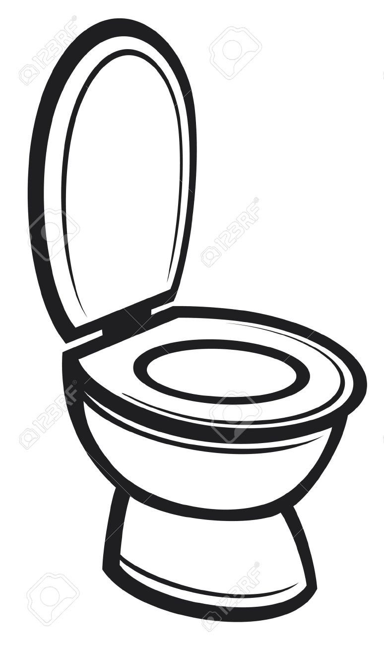 Line Drawing Toilet : Toilet bowl drawing at getdrawings free for personal