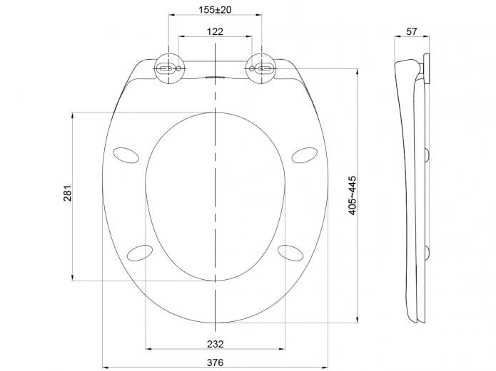 695x521 American Standard Soft Close Quick Release Toilet Seat White