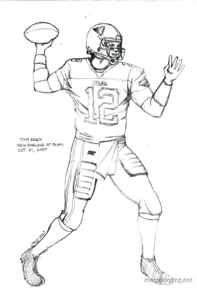 630x921 Tom Brady Coloring Sheets Page Pages Printouts S