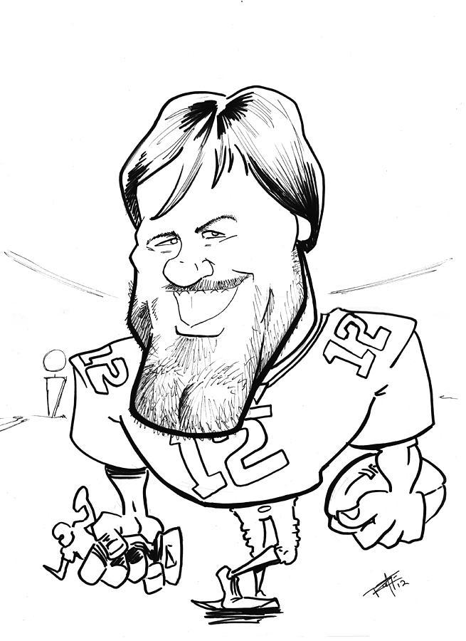 655x900 Tom Brady Drawing By Big Mike Roate