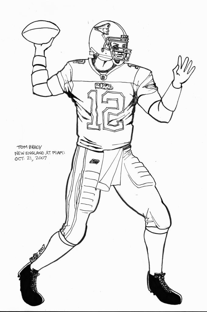 680x1024 Tom Brady Coloring Pages Coloring Page For Kids