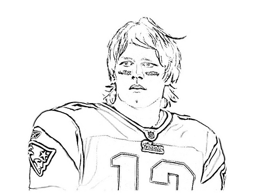 500x386 Off On A Tangent Tom Brady Coloring Page