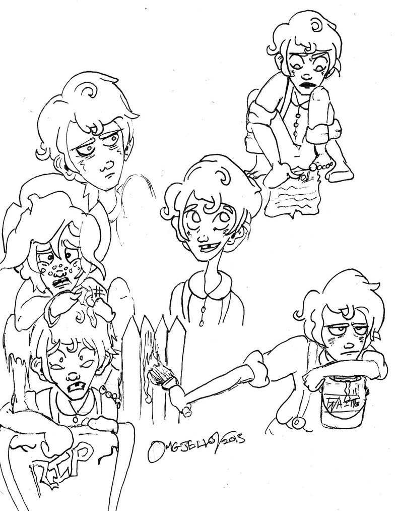 788x1013 Tom Sawyer Doodles By Cartoonation