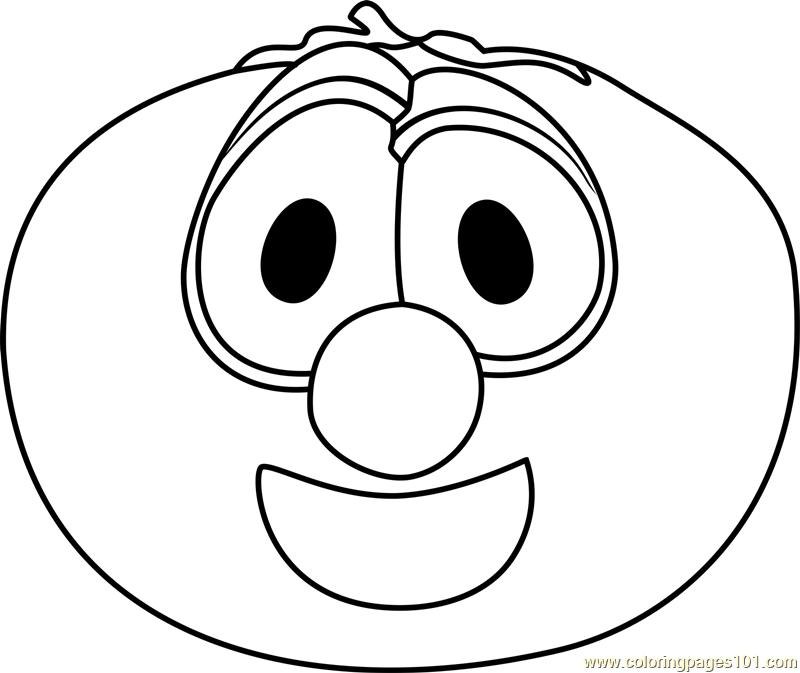 800x673 Bob The Tomato Coloring Page