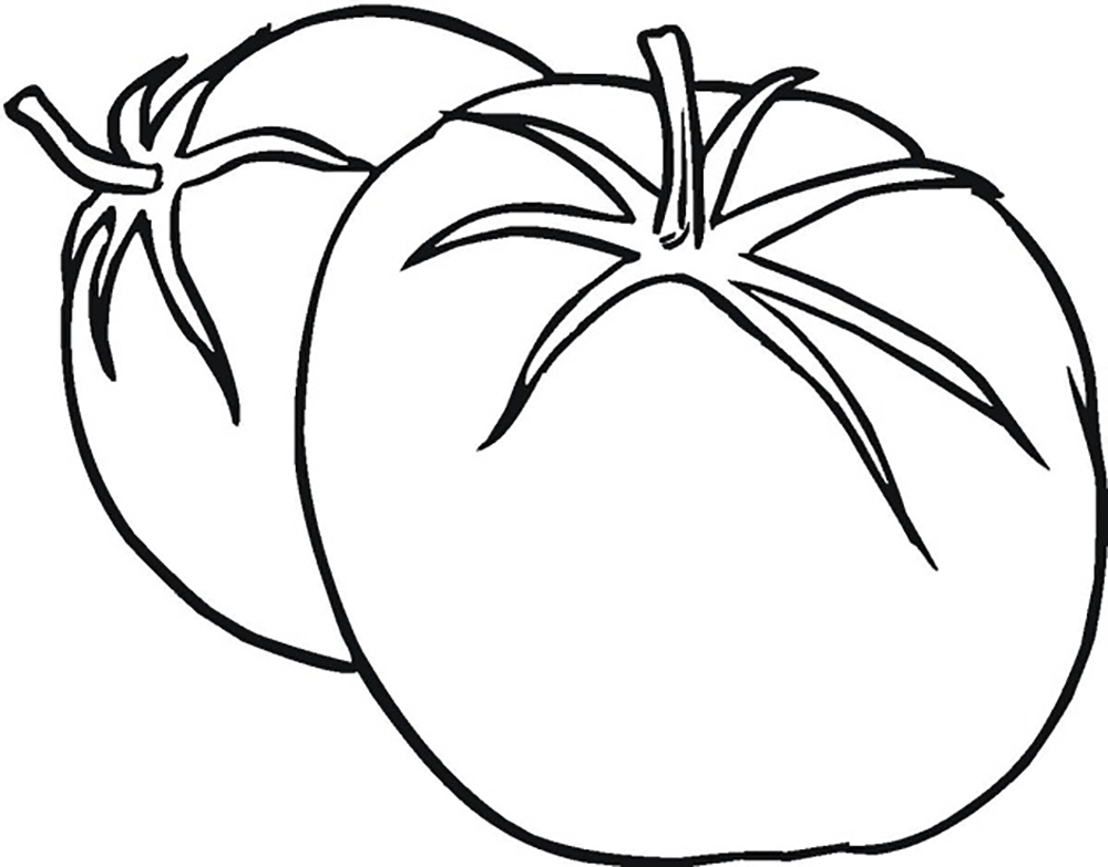 1000x783 Ripe Tomato Vegetable Vegetable Coloring Pages