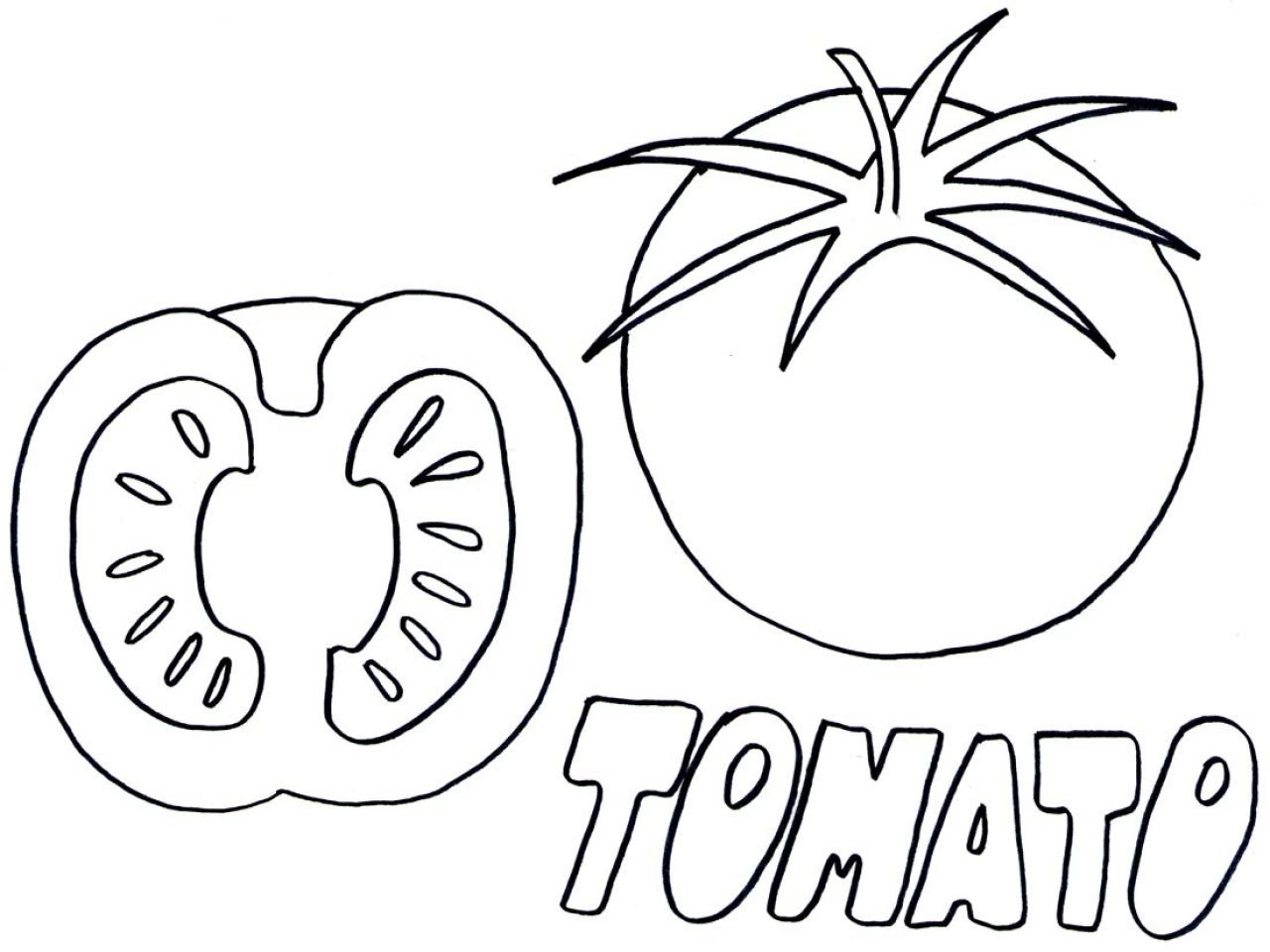 1280x960 Tomato Coloring Page Coloringpagehub