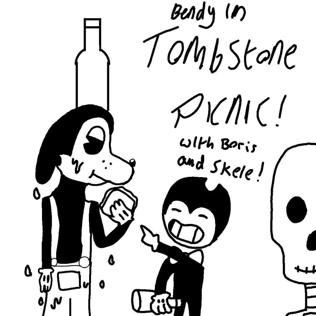 1024x1024 Bendy In Tombstone Picnic Bendy And The Ink Machine Amino