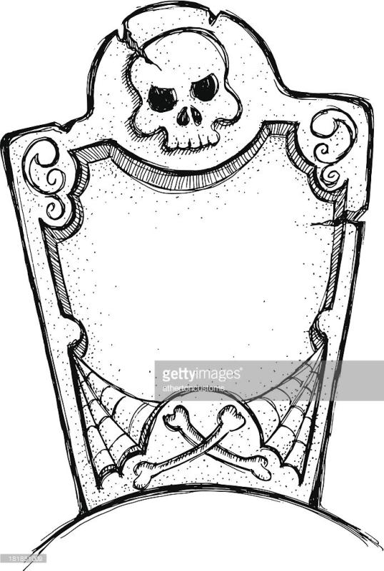 538x800 Tombstone Clipart Black And White