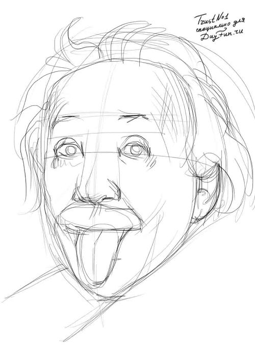 500x681 How To Draw A Tongue Step By Step