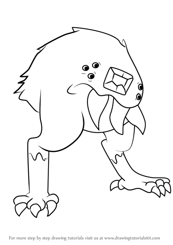 566x800 Learn How To Draw Tongue Monster From Steven Universe (Steven