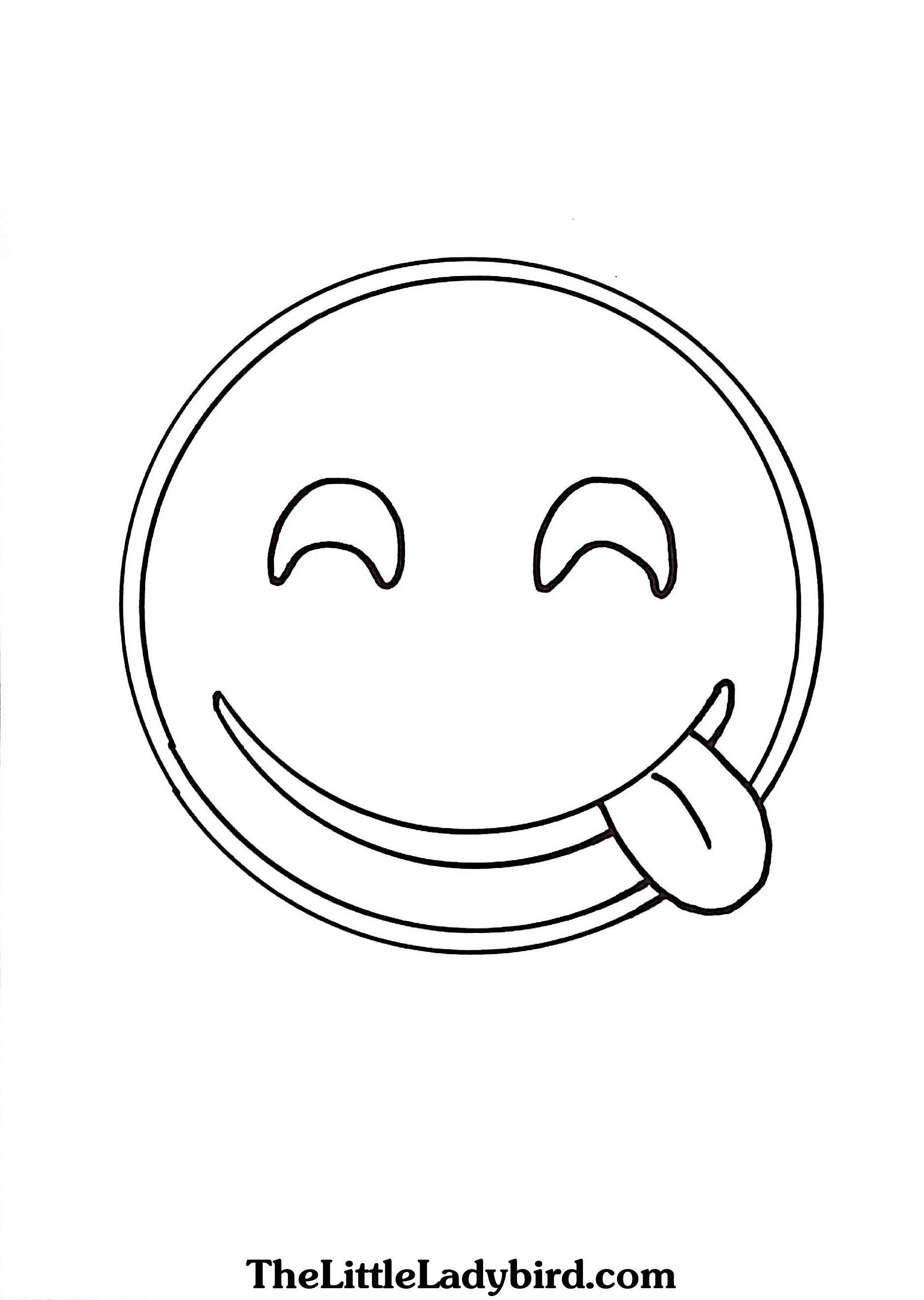 1878x2642 Free Emoji Tongue Out Coloring Page