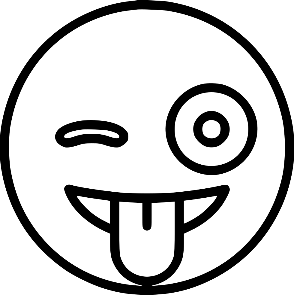 980x982 With Stuck Out Tongue And Winking Eye Svg Png Icon Free Download