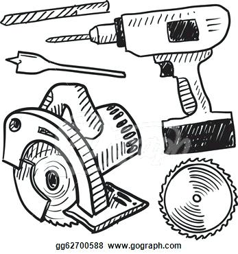 347x370 Tool Clipart Power Tool Clipart Toolbox Sketch Memocards.co