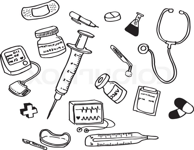800x619 Doctor Tools Drawing Drawing Doctor Tools1