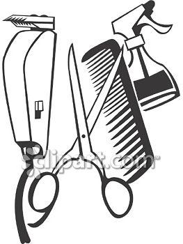 263x350 Hair Cutting Tools Clipart