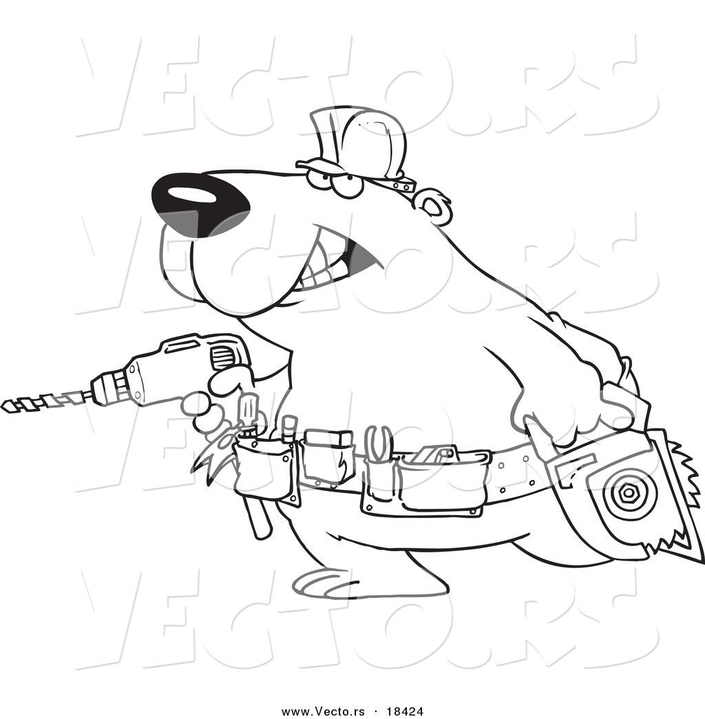 1024x1044 Vector Of A Cartoon Handy Bear With Tools
