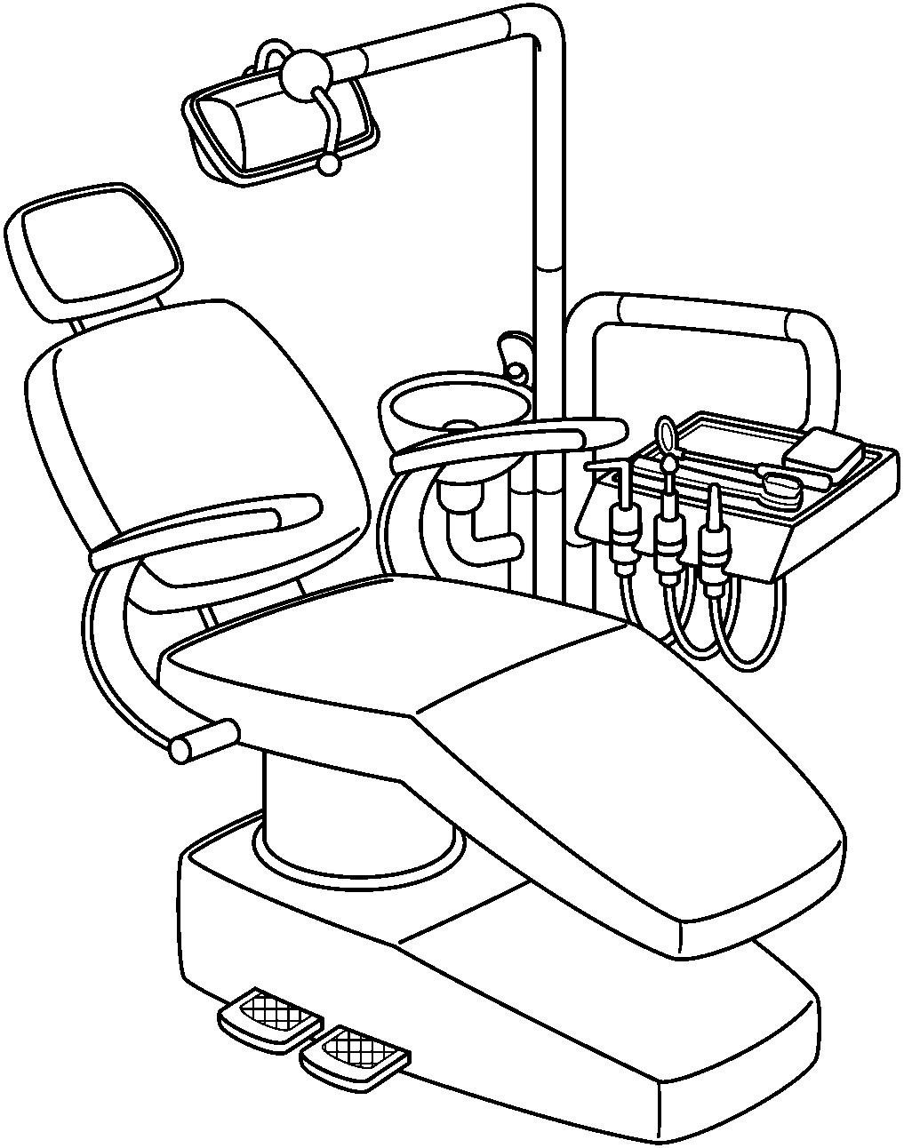 1017x1292 Dentist Tool Clipart