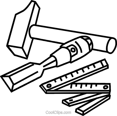 chisel and hammer coloring pages - photo#5