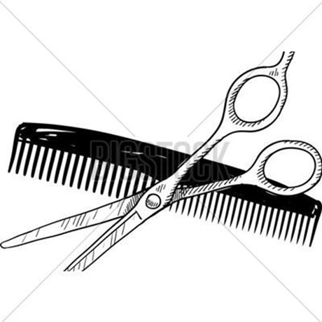 460x460 Barber Tools Drawing Postcards (Package Of 8) By Admin Cp70839509