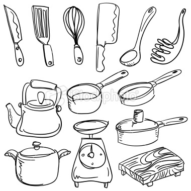 380x380 Collection Kitchen Tools Drawing Photos,