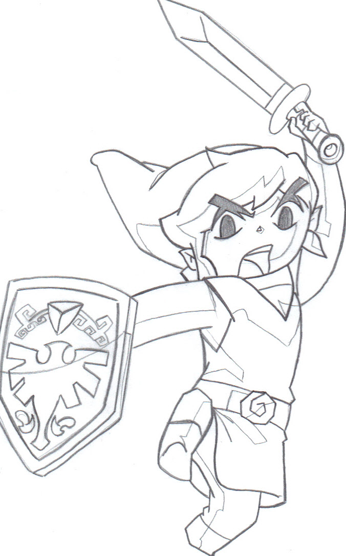 676x1086 Toon Link Drawing By Dasad2