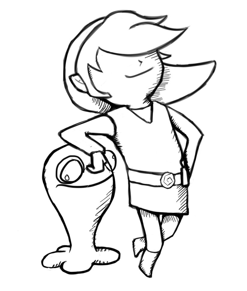 823x970 Toon Link Sketch By Happy Cheesecake