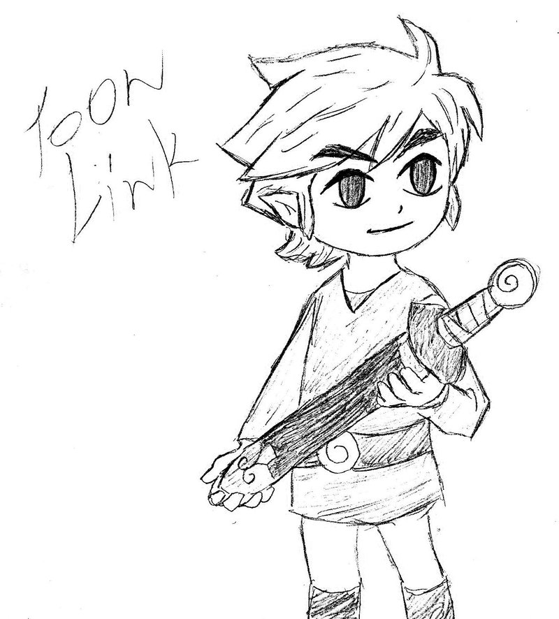 800x886 Toon Link By Vampirerose7