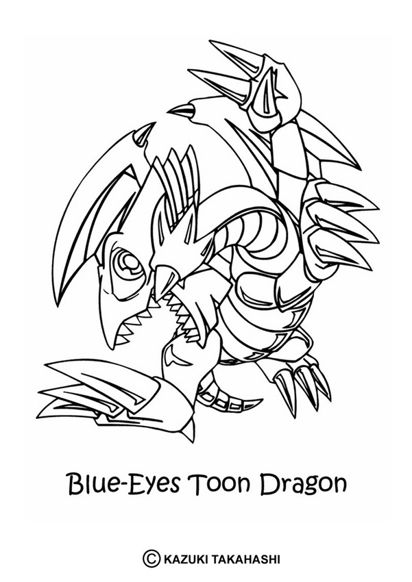 601x850 Blue Eyes Toon Dragon Coloring Pages