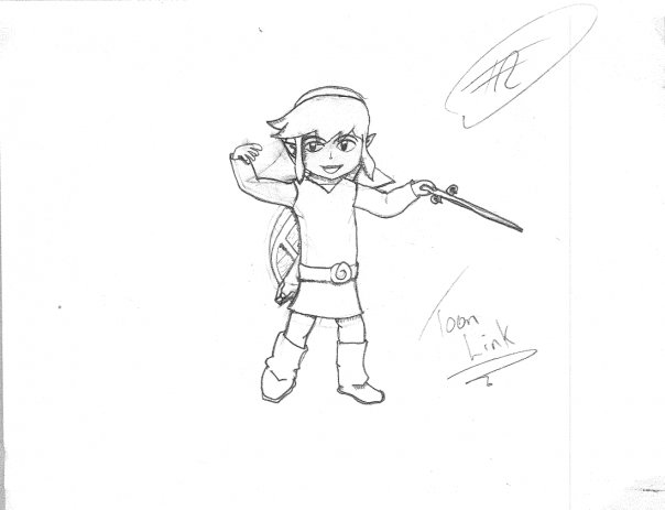 604x463 Toon Link Drawing By Pyran95