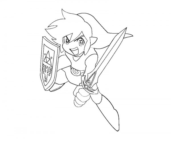 600x500 Trend Toon Link Coloring Pages 63 On Fee With Toon Link Coloring