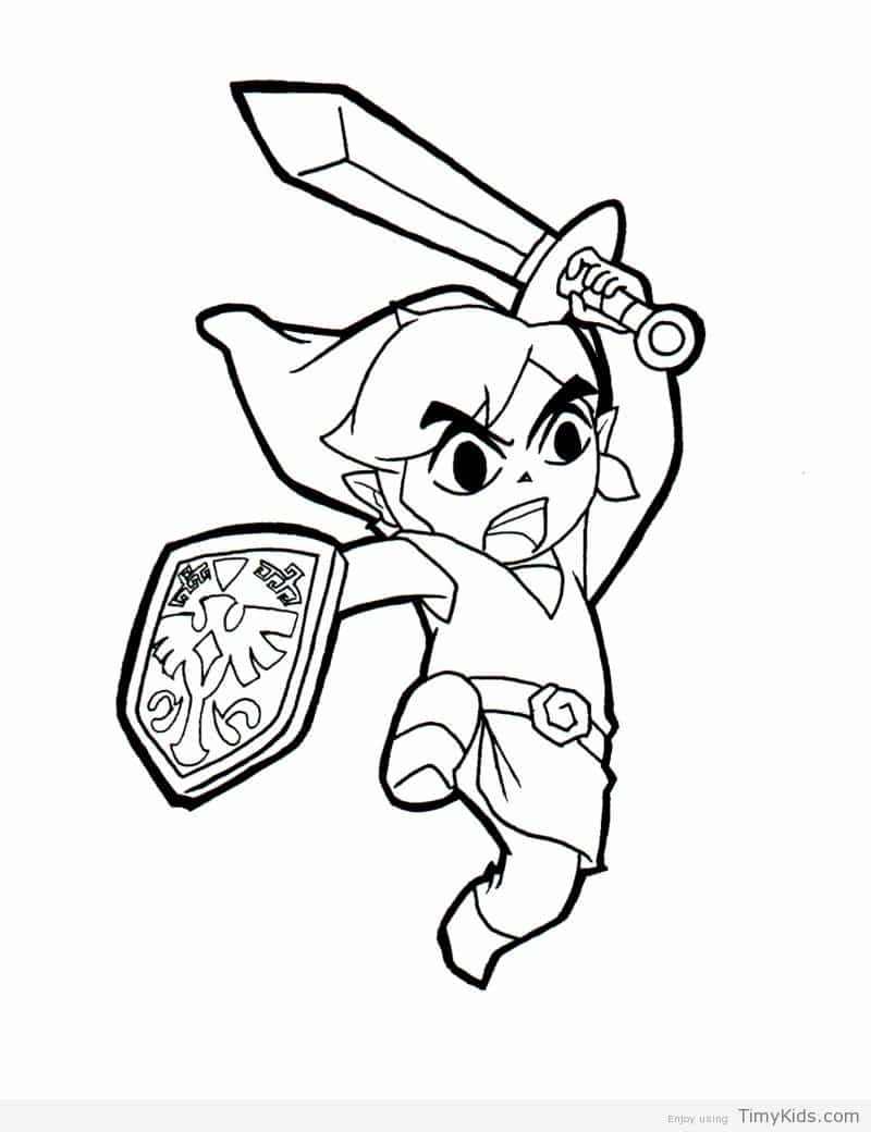 800x1040 Toon Link Coloring Pages Timykids