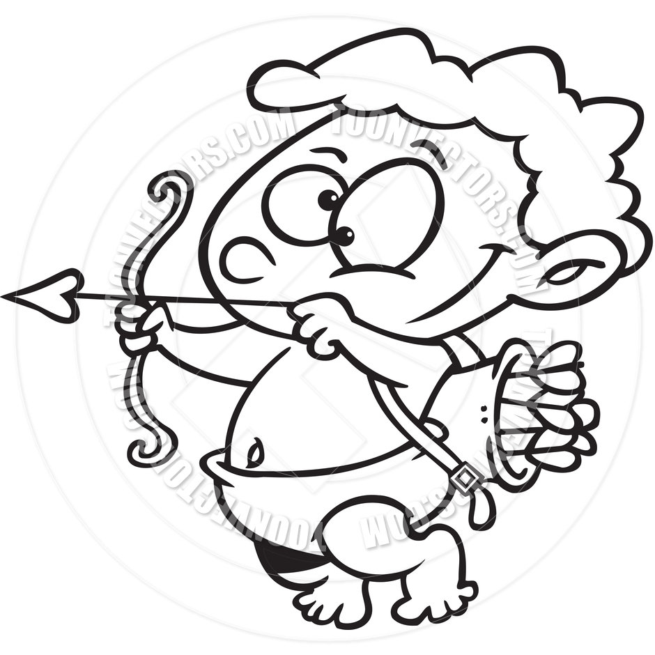 940x940 Cupid Drawing Cartoon Cartoon Cupid (Black And White Line Art) By