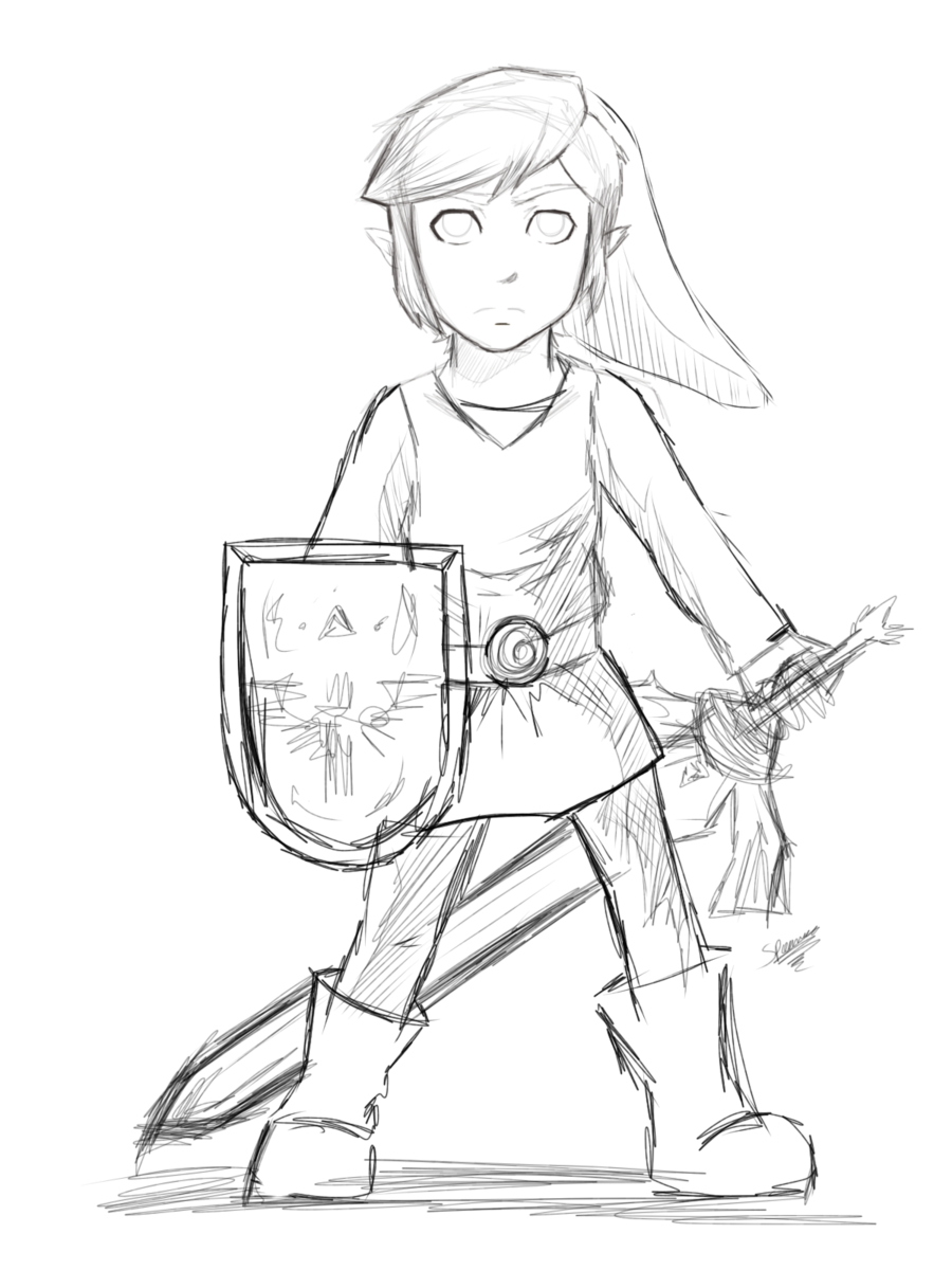 Toon Link Drawing At Getdrawings Com Free For Personal Use