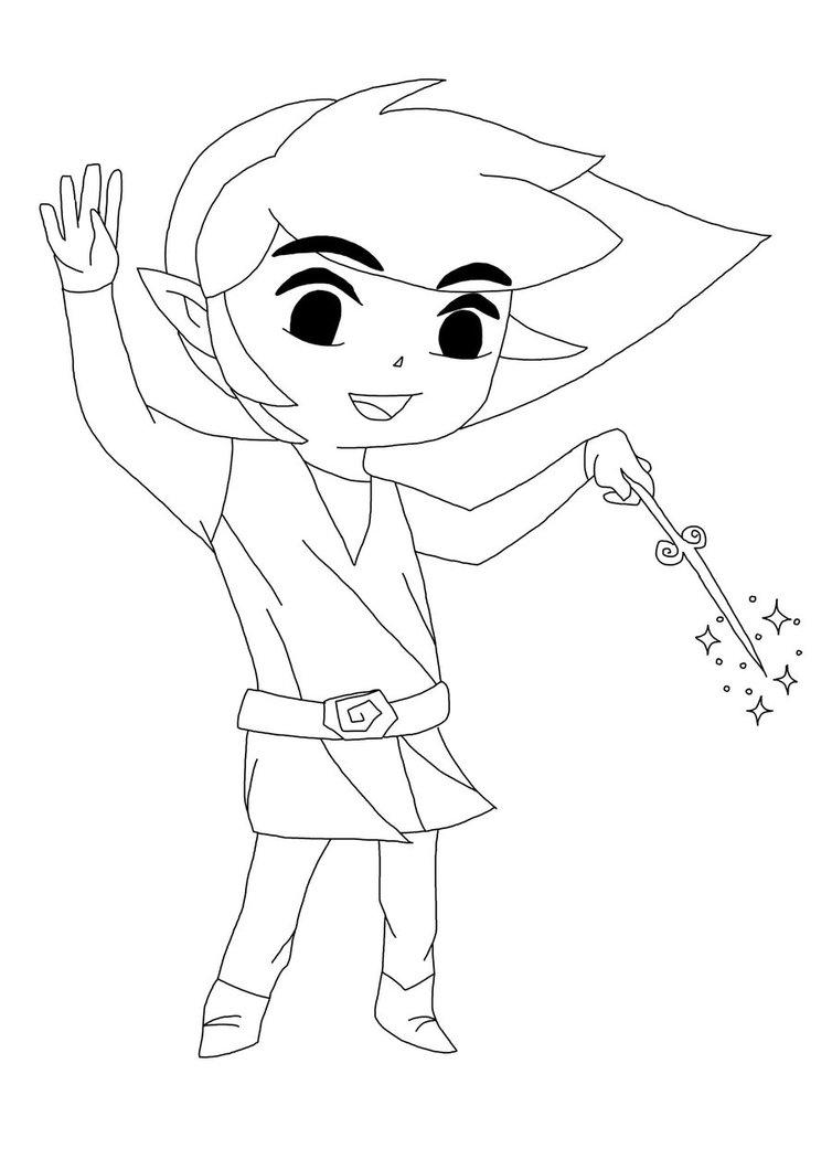 Toon Link Drawing at GetDrawings | Free download