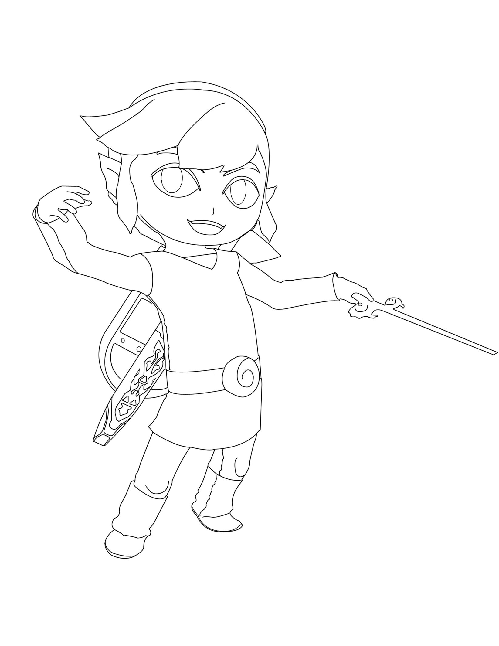 Toon Link Drawing at GetDrawings.com   Free for personal use Toon ...