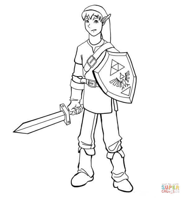 toon link coloring pages - photo#37